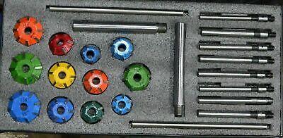 Motor Válvula Restauración Carburo Punta Asiento Cutters Kit + 8 Guía Tallos