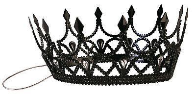 edle schwarze Krone böse Königin Herrscherin Queen Halloween Grusel Diadem