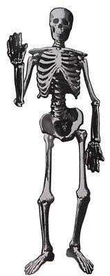Halloween-Deko Dekoration Grusel-Papier-Skelett ca 135cm zum Aufhängen Helloween