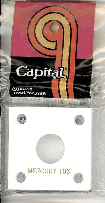 2x2 Capital Holder Plastic Snaplock Small Gold Dollar Coin White Capsule Display