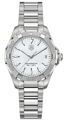 WAY1312.BA0915 TAG HEUER AQUARACER WOMENS LUXURY WATCH QUARTZ WHITE MOP DIAL
