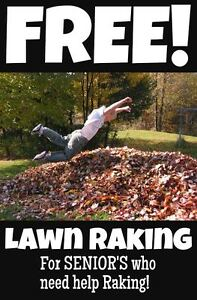 FREE LEAF RAKING AVAILABLE! Inquire within....