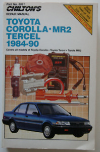 Toyota Corolla Tercel MR2 Chilton's repair manual 1984-90
