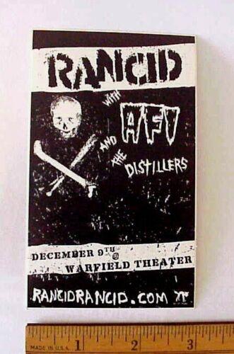 Rancid, AFI the Distillers Warfield Theater San Francisco CA Peel-Off Sticker