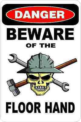 3 - Danger Beware Of The Floor Hand Oilfield Hard Hat Helmet Sticker H382