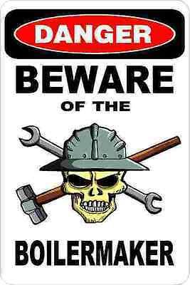 3 - Danger Beware Of The Boilermaker Union Welder Hard Hat Helmet Sticker H342