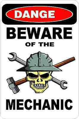 3 - Danger Beware Of The Mechanic Union Oilfield Hard Hat Helmet Sticker H340