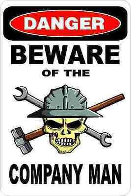 3 - Danger Beware Of The Company Man Union Welder Hard Hat Helmet Sticker H351