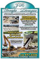 Démolition, Excavation, Drain Français, Installation septique...