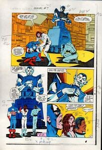 1983-Captain-America-Annual-7-page-34-Marvel-Comics-original-color-guide-art
