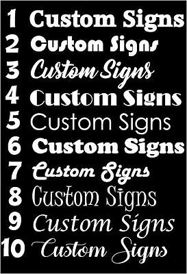 Custom Vinyl  Signs Shop Window Cars Boat Wall Doors Craft Easy Apply Sticker