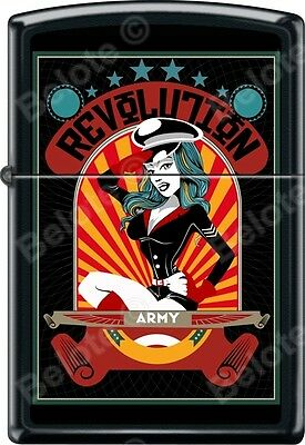 Zippo Army Revolution Woman Black Matte WindProof Lighter NEW