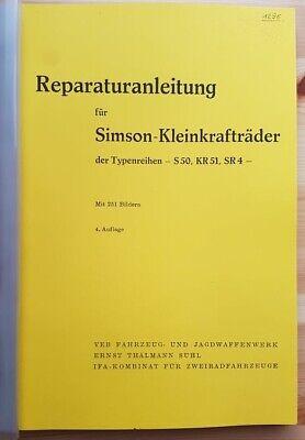 Gebraucht, Simson S50, KR51 , SR4 - Reparaturanleitung - mit 251 Bildern gebraucht kaufen  München