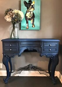 Mahogany and Metal Console Table