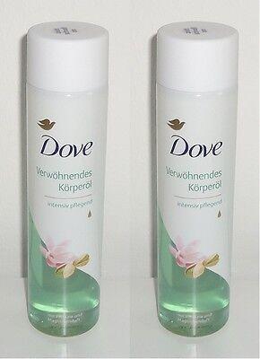 (100ml=2,83€) 2x Dove Verwöhnendes Körperöl mit Pistazie und Magnolienduft 150ml