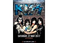 3 standing tickets for KISS at the Hydro this Saturday