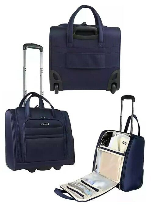 ** BRAND NEW with tags** 15-Inch Rolling Underseat Luggage