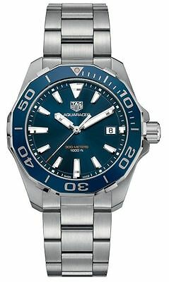 New Tag Heuer Aquaracer 300M Blue Ceramic Dial Steel Men's Watch WAY111C.BA0928