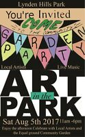ART IN THE PARK  YOU ARE INVITED TO A FREE COMMUNITY EVENT