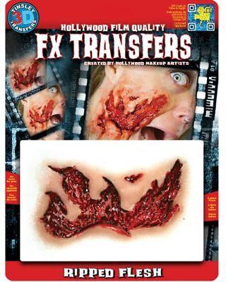 Tinsley 3D Waterslide Transfer NEW Zombie RIPPED Flesh Halloween Makeup