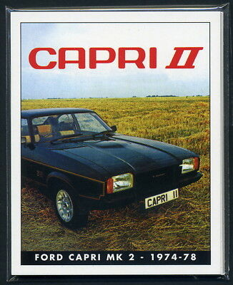 FAMOUS FORDS - THE CAPRI Mk2 Collectors Card Set - JPS Ghia L S X-Pack 3.0 Sport