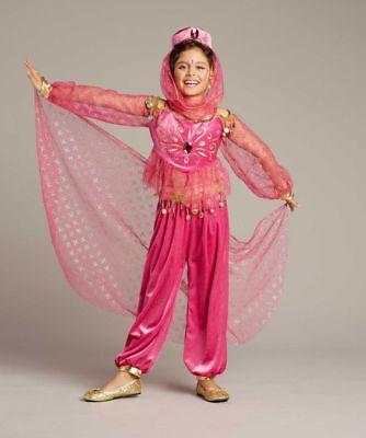 NIP~Arabian Genie Costume w/Headpiece & Veil~ Chasing Fireflies Wishcraft Size 4](Genie Headpiece)