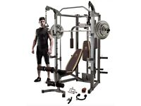 Marcy SM-4008 Smith Machine Home Gym With 140KG Weight Set Bench