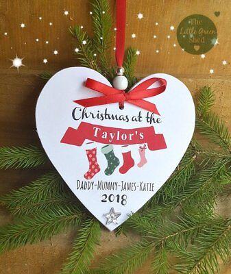 Christmas Plaque Family Sign Personalised Keepsake Hanging Decoration