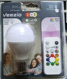 Veezio B22 806lm LED Dimmable GLS Light Bulb