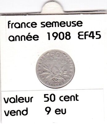 BF 1 )pieces de 50 cent  france  1908