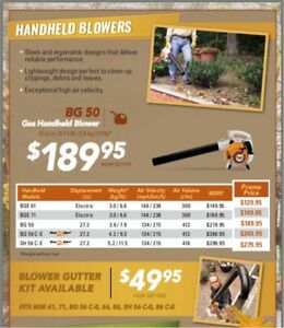 NEW STIHL LEAF BLOWERS ON SALE HANDHELD BACKPACK BR600 BR700