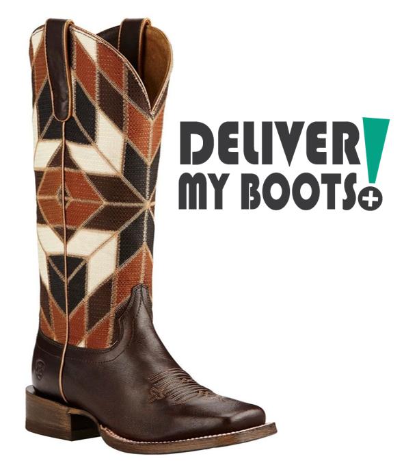 Women's Ariat Western Boots 10018501 - Miranda Bittersweet Chocolate