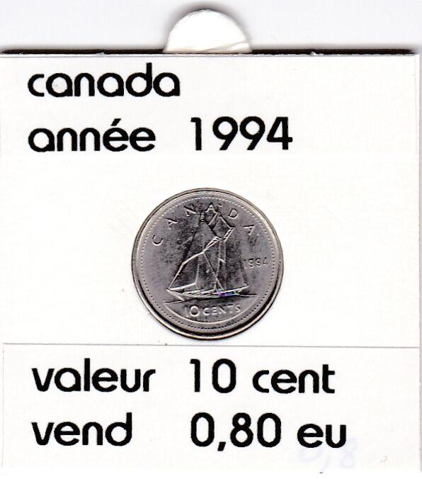 canada 10 cent  1994  voir description