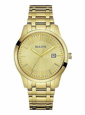 Bulova 97B145 Men's Gold Plated Stainless Steel Bracelet Analogue Watch