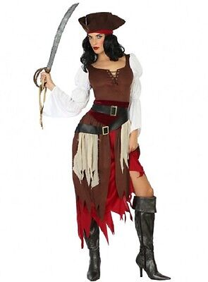 Cheap Pirate Costumes (Costume Woman Pirate of Caribbean XXL Suit Adult Capri pants NEW)