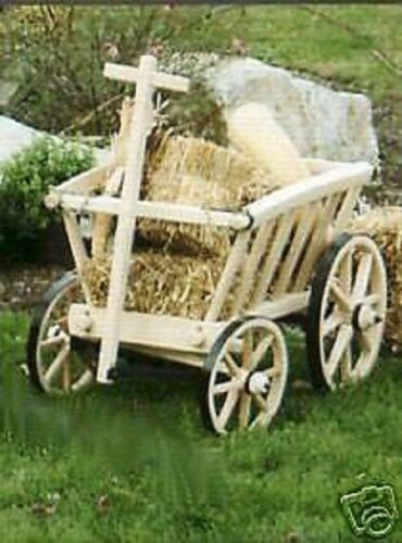 Wooden Goat Wagon Rustic Medium Amish-made in USA