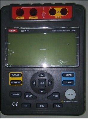 Digital Insulation Resistance Tester Meter Megger 1kg Ohm 5kv Pi Dar Usb Ut513a