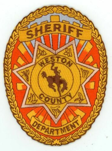 WESTON COUNTY SHERIFF WYOMING WY NICE COLORFUL PATCH POLICE