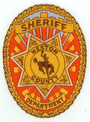 WYOMING WY WESTON COUNTY SHERIFF NEW PATCH POLICE