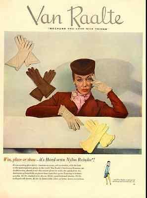 1950 vintage ad for Van Raalte Gloves -710