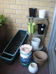 VARIOUS POTS, PLANT STANDS Kirribilli North Sydney Area Preview