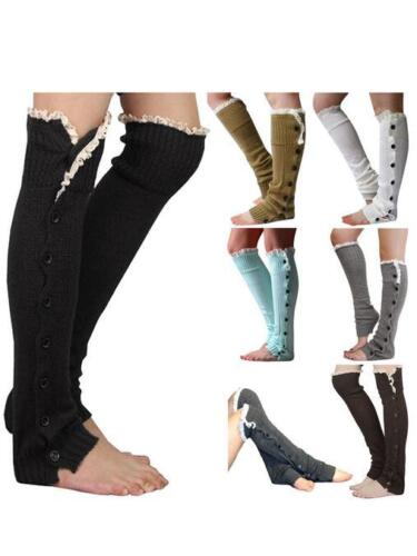 2ea542ca41f Toeless Crochet Cable Knit Rib Over The Knee High Socks Women Boots ...