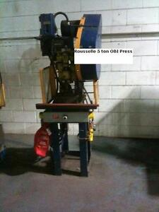 5 ton Rousselle obi punch press 3 PHASE ELECTRICS