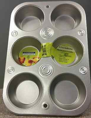 6 Cup Muffin Cooking Pan Heavyweight Steel ...