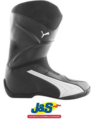 Puma Super Ride 3097 Leather Motorcycle Boots Black Grey Were £129.99 J&S SALE
