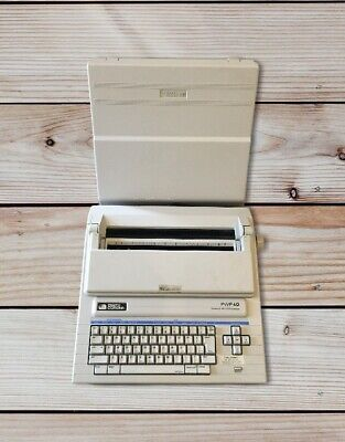 Smith Corona Pwp 40 Typewriter Word Processor W Cover Works