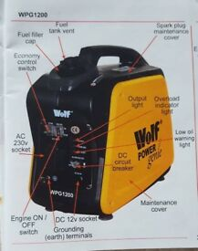 Wolf Generator WPG1200. Brand New still in box! Camping? Caravan?