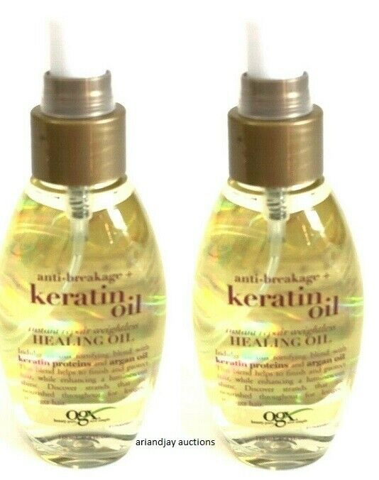 OGX Weightless Healing Oil, Anti-Breakage Keratin Oil Instan