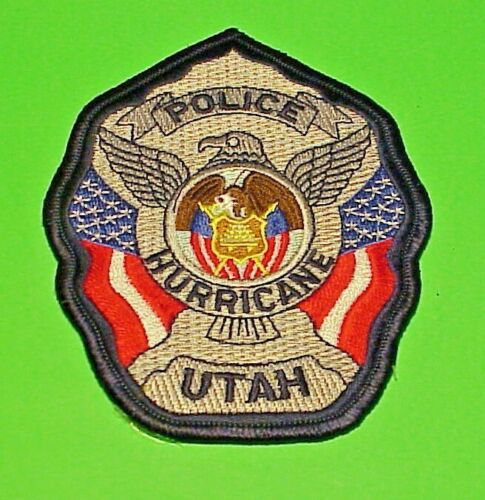 "HURRICANE  UTAH  UT  POLICE PATCH  4 1/2""  FREE SHIPPING!!!"