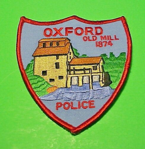 """OXFORD  KANSAS  KS  """" OLD MILL 1874 """"  4 1/4""""  POLICE PATCH  FREE SHIPPING!!!"""